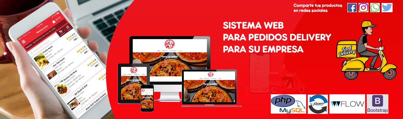 Página web para pedidos delivery
