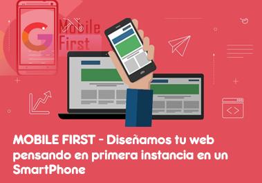 Mobile first - Diseño web pensado en smartphone